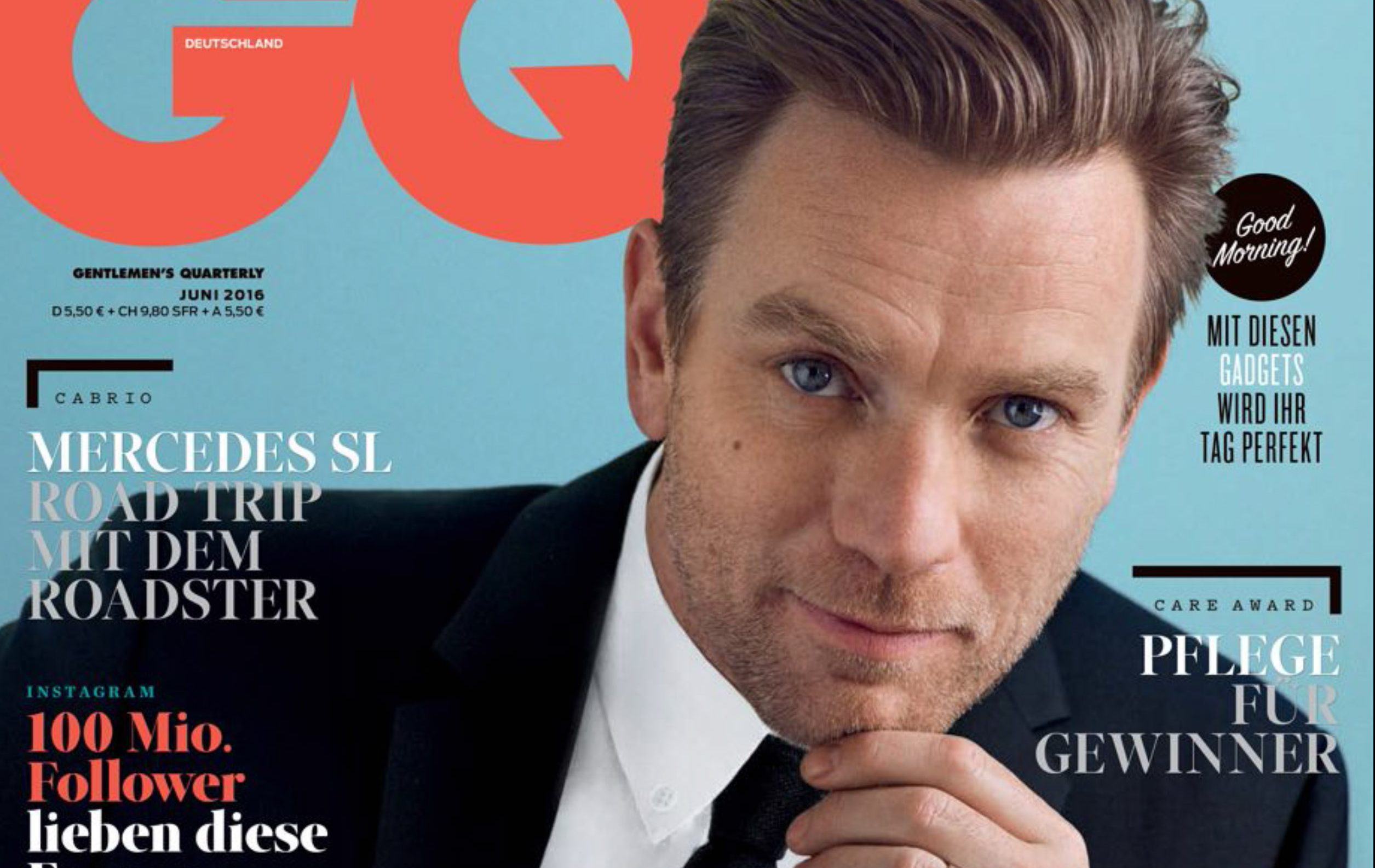 Ewan McGregor covers GQ Germany June